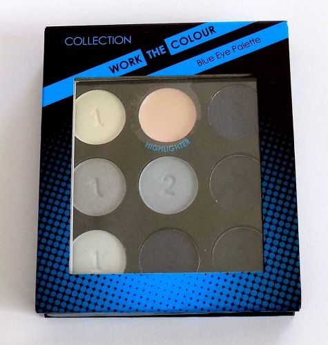 12 x Collection Work the Colour Eyeshadow Palette | Blues | 9 Shades